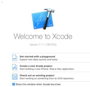 Xcode inicio