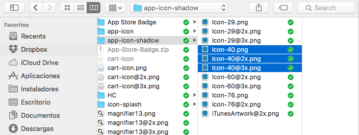 icons 3 sizes